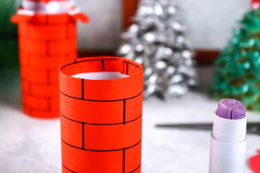 bricolage père noel rouleau papier toilette