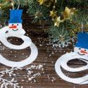 Décoration en papier facile pour le sapin de Noël : bricolage