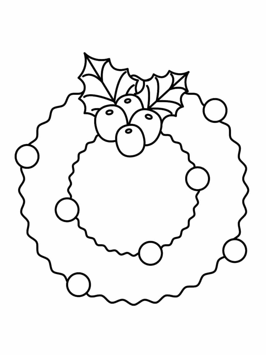 colorier une couronne de noel