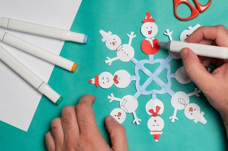 faire un flocon de neige en papier