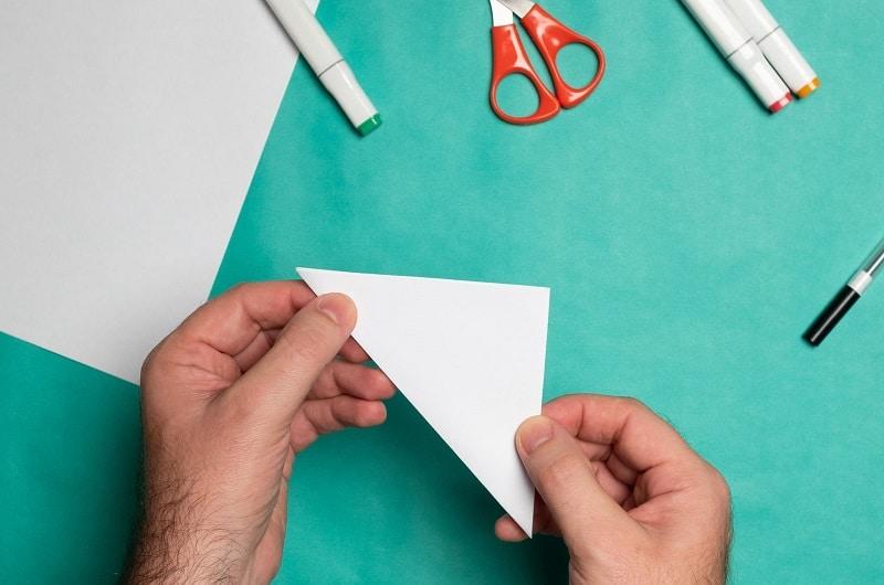 triangle de papier