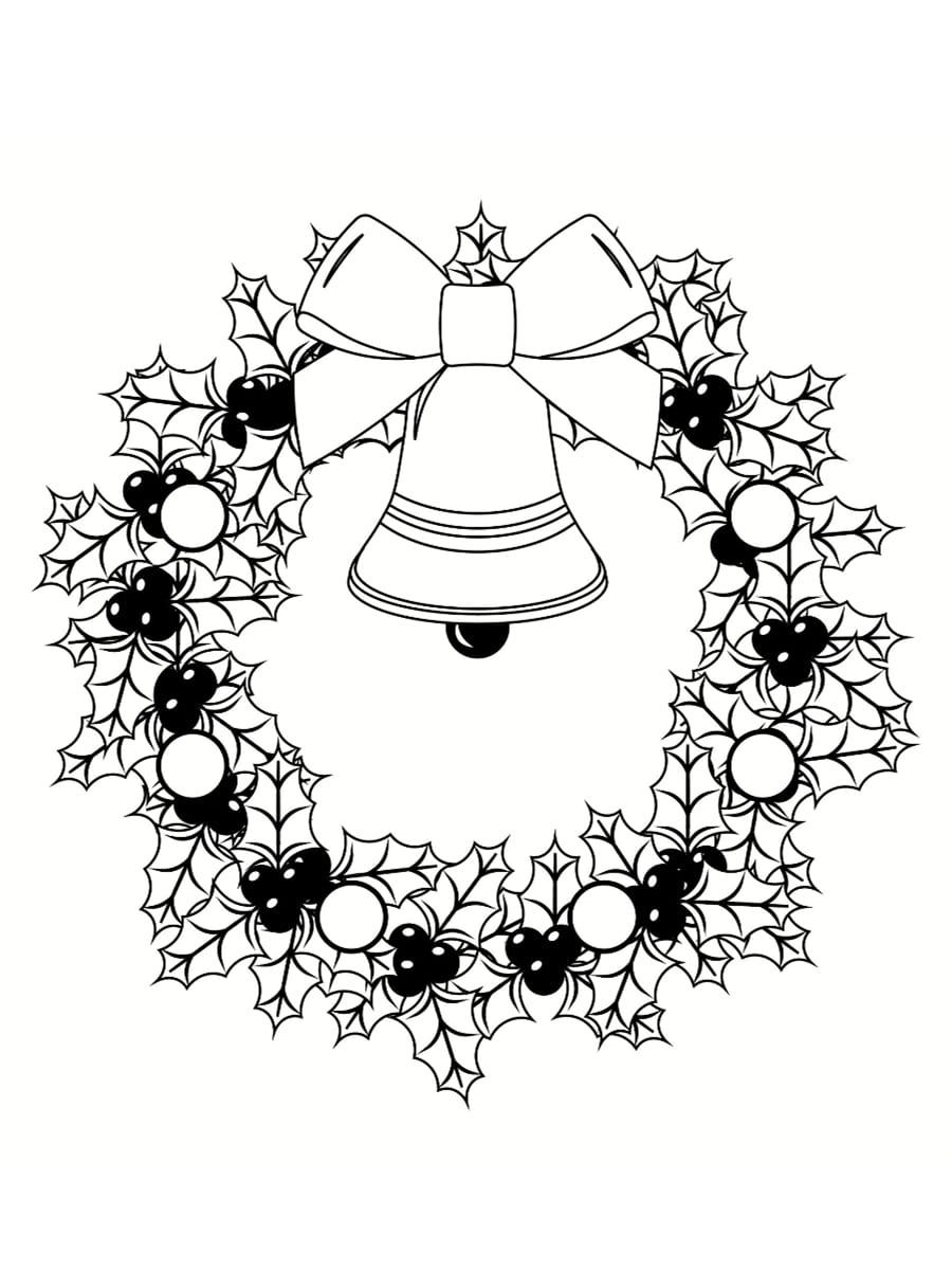couronne de noel dessin