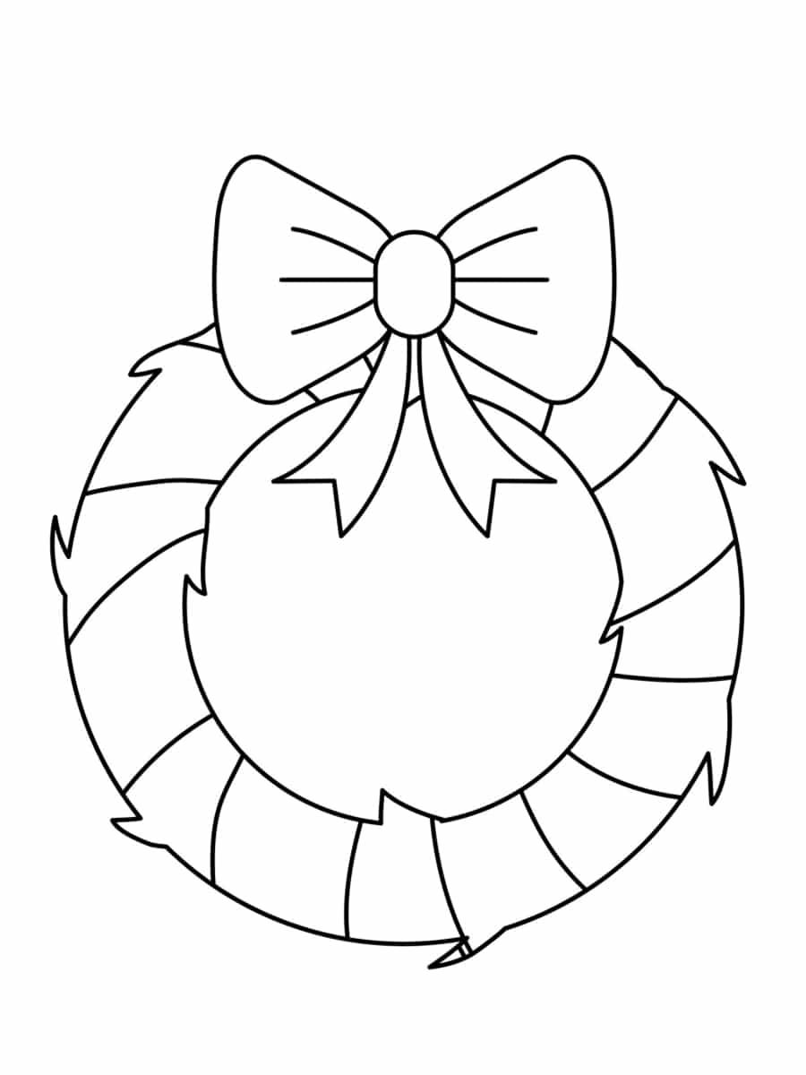 couronne de noel noir et blanc