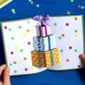Carte Noël cadeau pop up