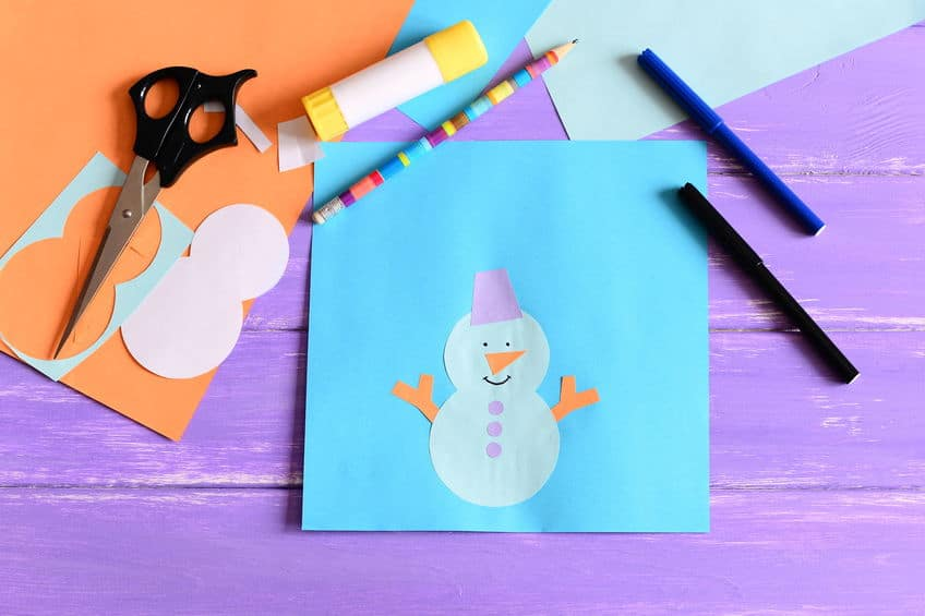carte noel maternelle bonhomme de neige