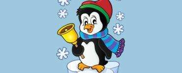 coloriages de pingouins de noel