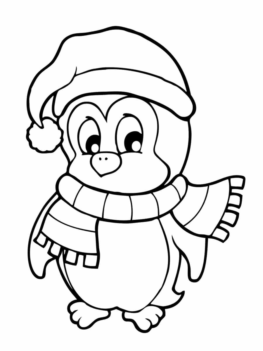pingouin noel dessin