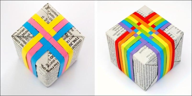 papier cadeau créatif