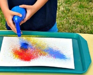 Peindre avec un vaporisateur