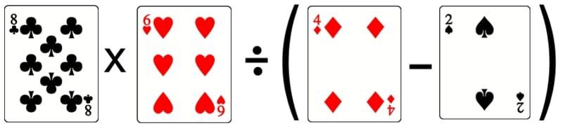 compter avec les cartes