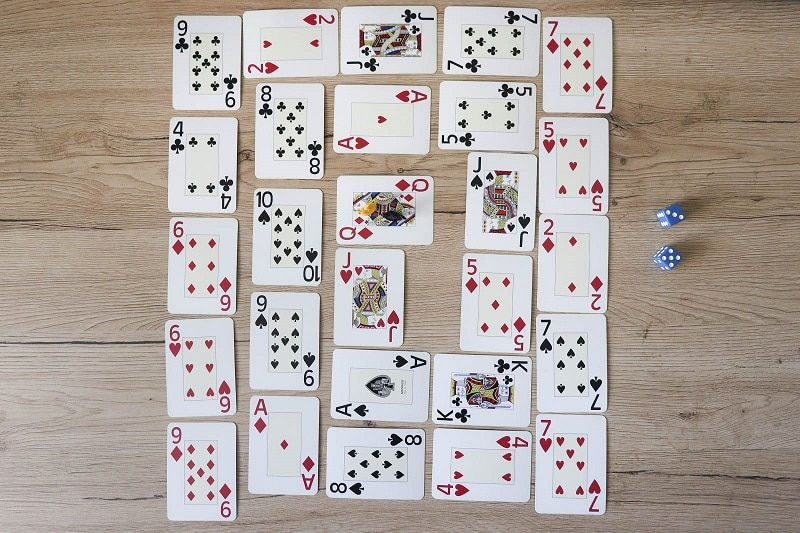 jeu spirale math cartes