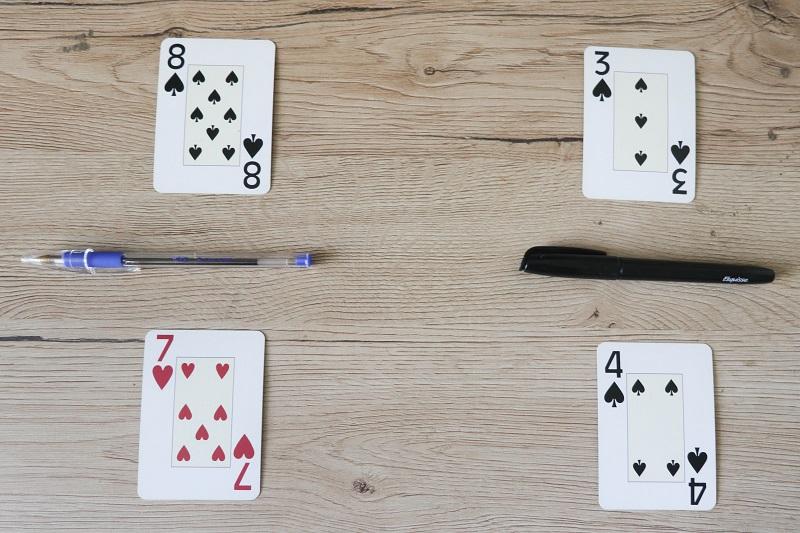 jeu de cartes fractions