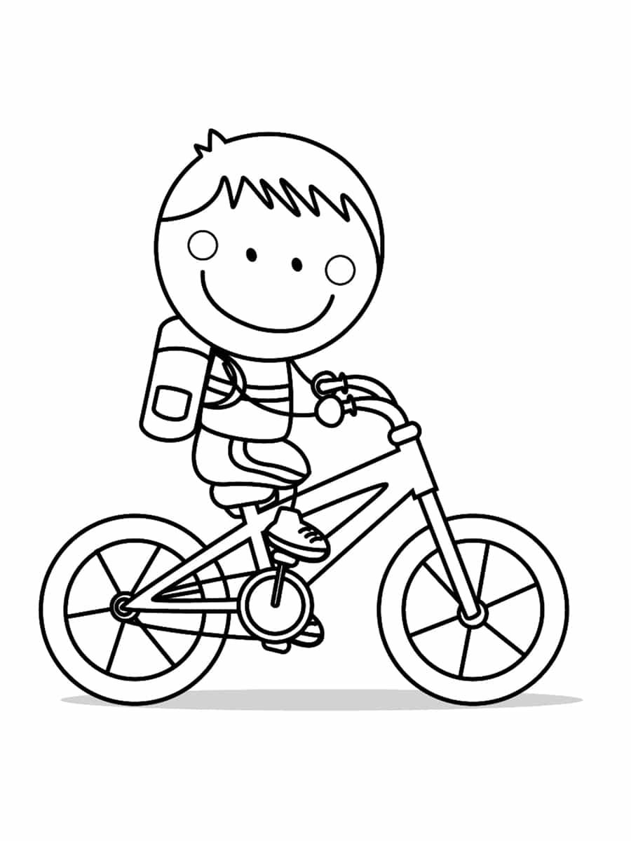 coloriage vélo garçon