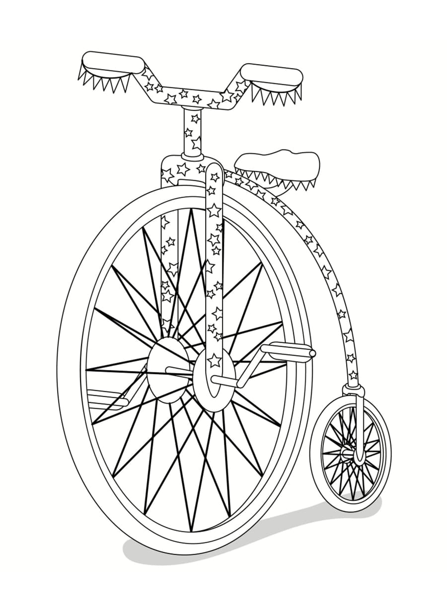 coloriage vélo de cirque