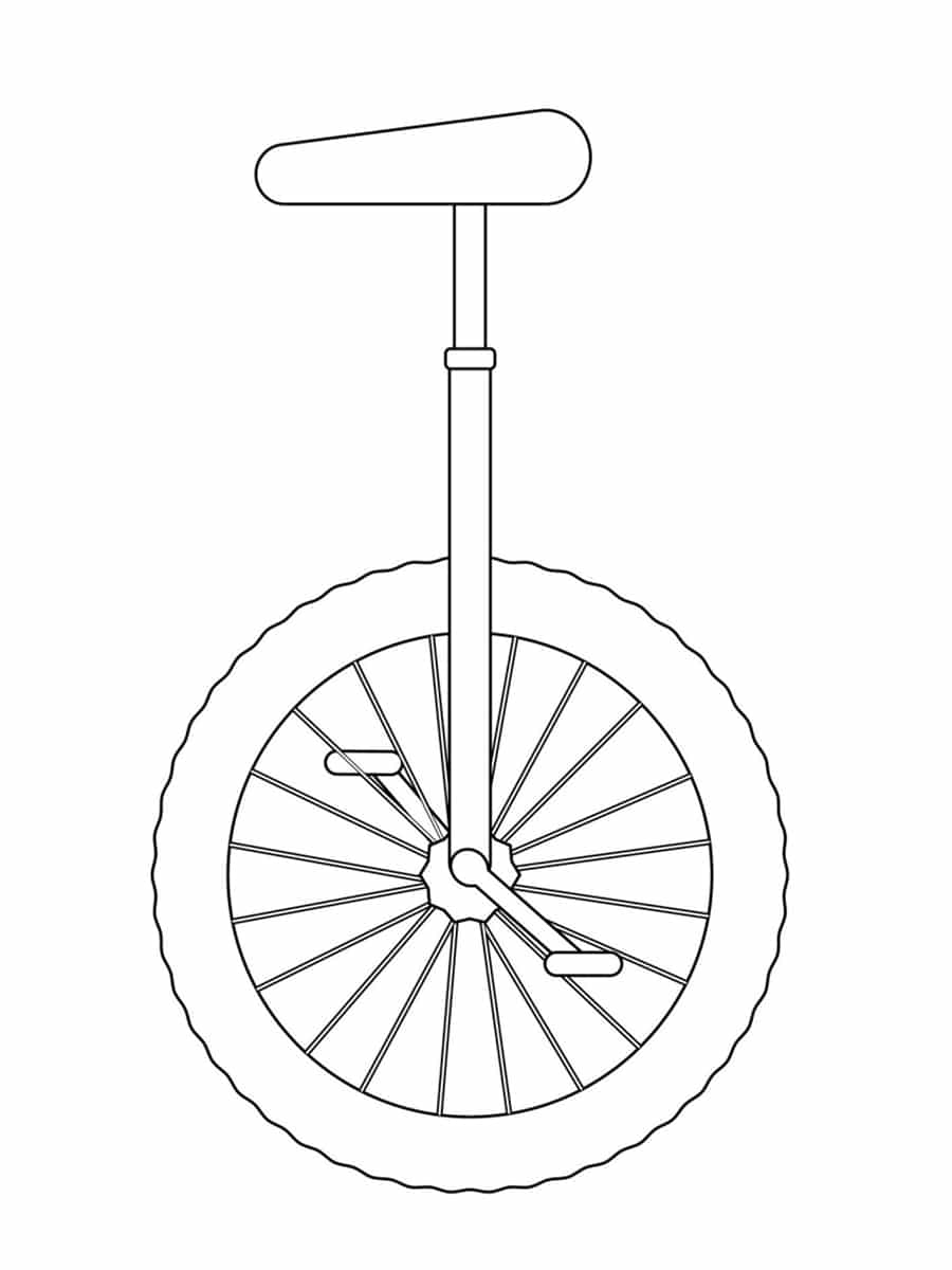coloriage monocycle
