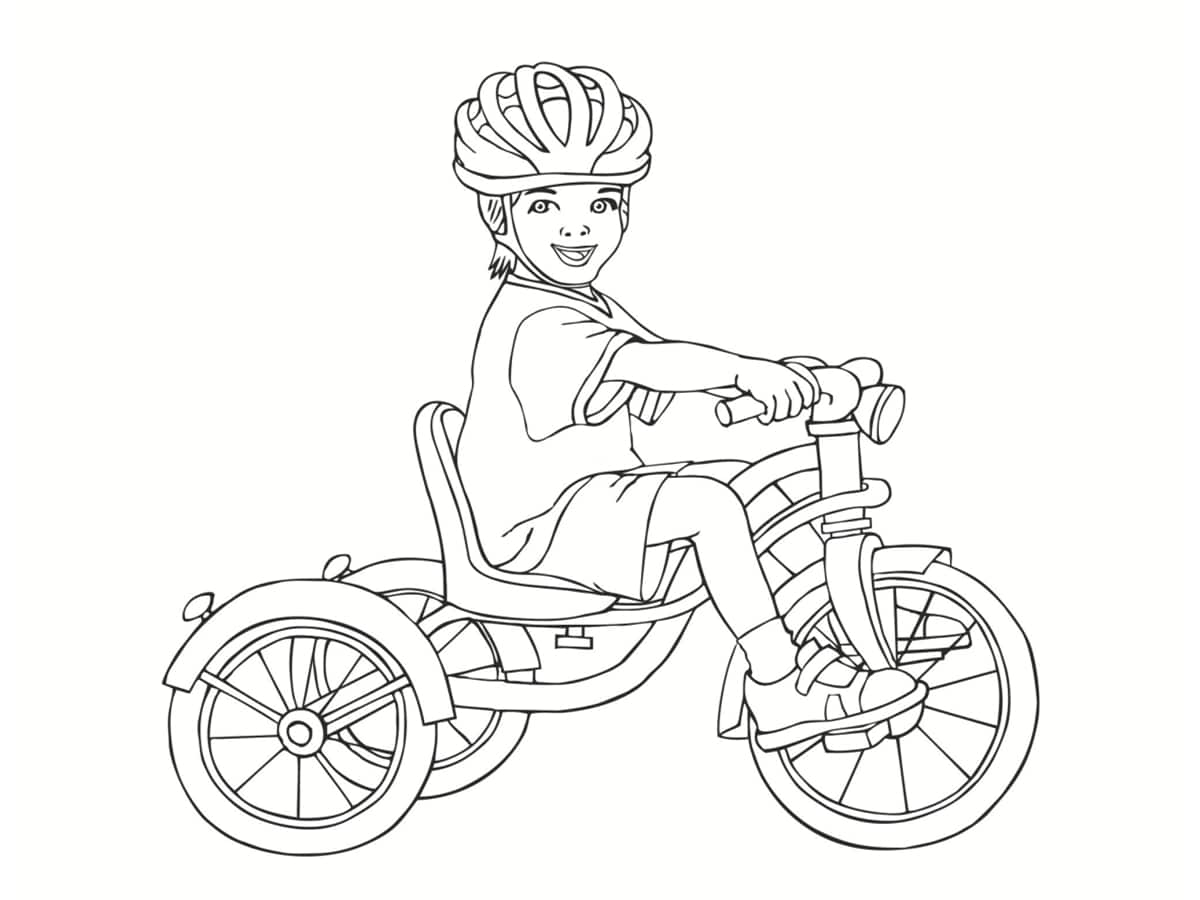 coloriage tricycle