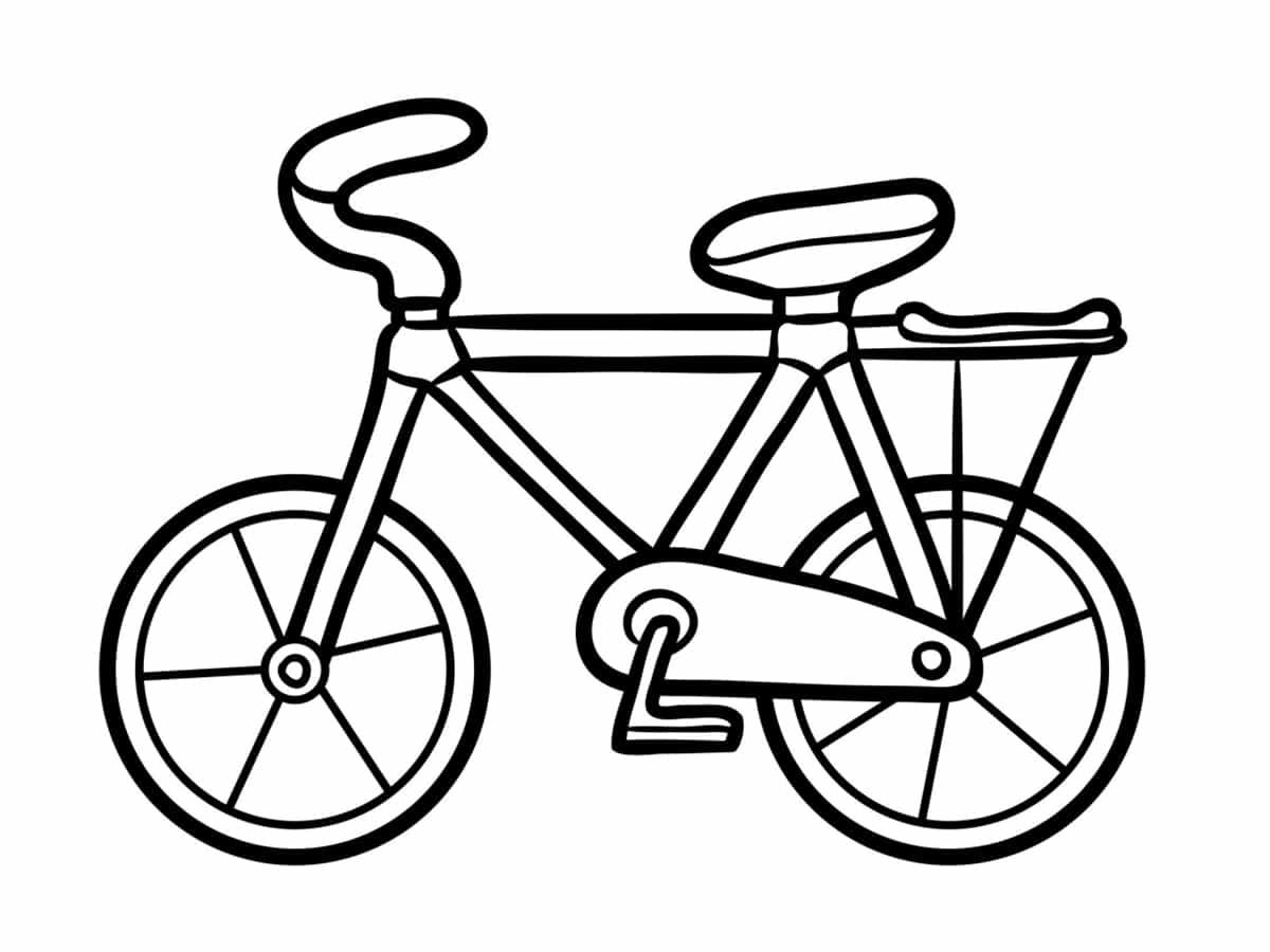 vélo à colorier