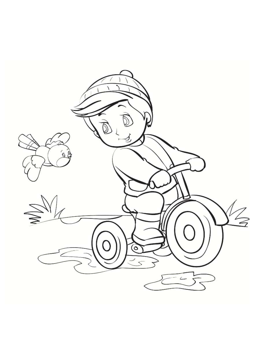 dessin de vélo