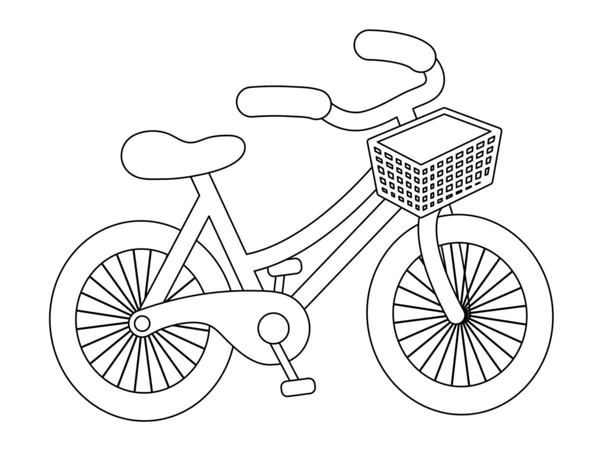 coloriage de vélo