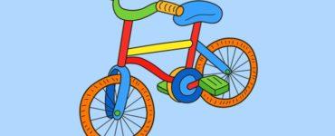 coloriages de vélo à imprimer
