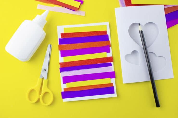 bricolage papier fête des mères