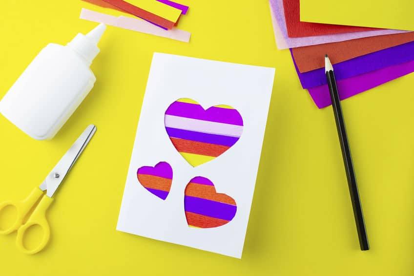 carte fête des mères coeur