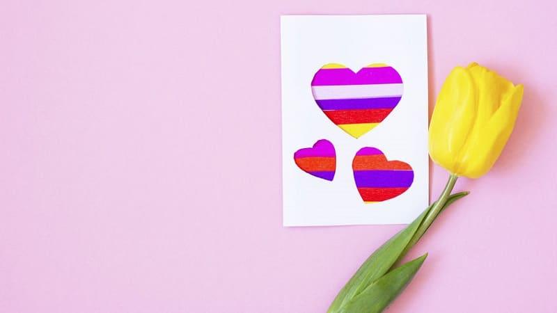 carte fête des mères coeurs