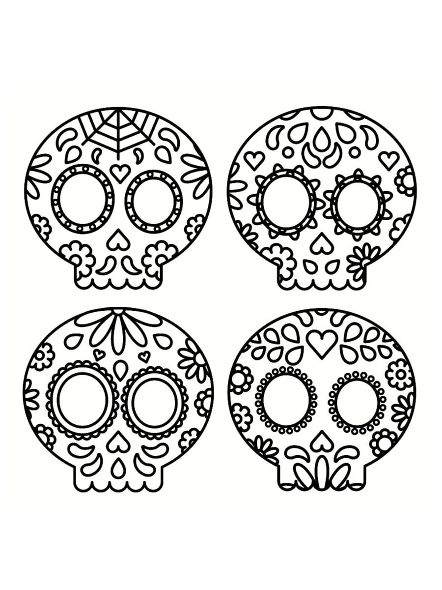 Coloriage tête de mort mexicaine  32 dessins à imprimer