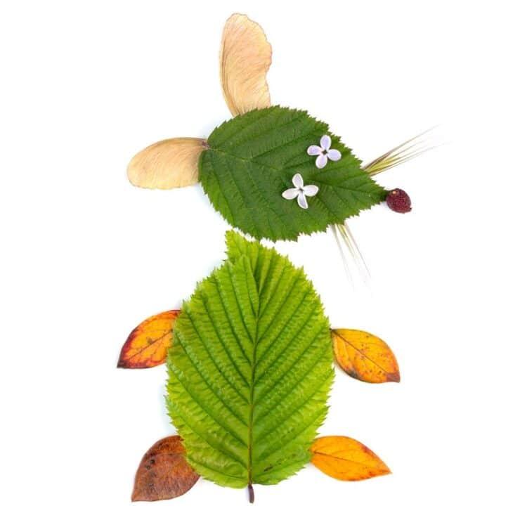 souris feuilles arbre