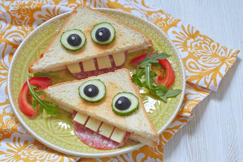 sandwich facile halloween