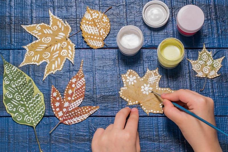 peinture feuille arbre