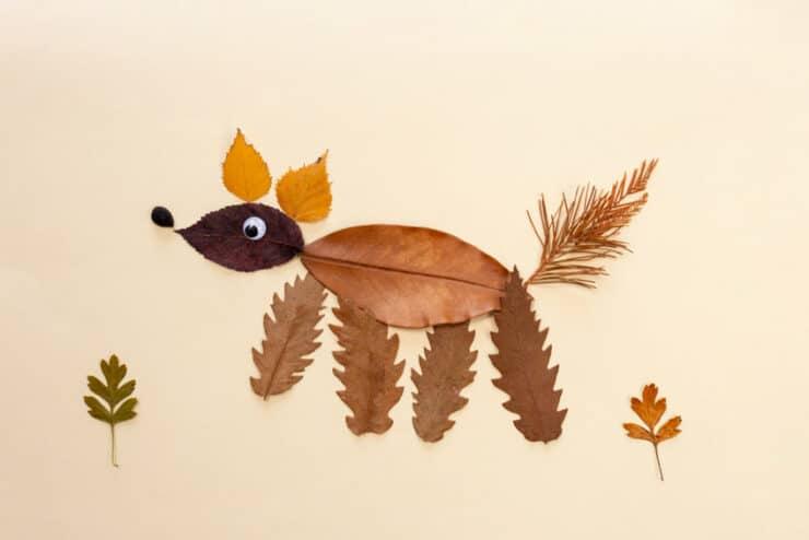 renard feuilles arbre