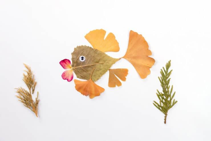 poisson feuilles arbre