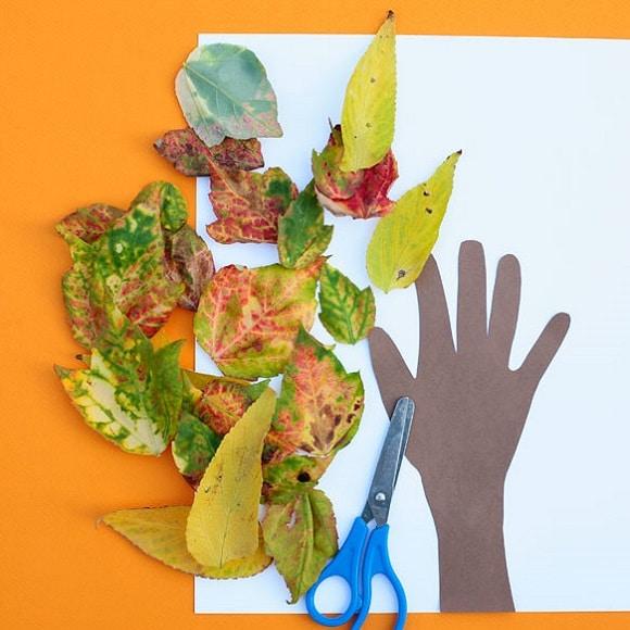 activité manuelle automne feuilles arbre