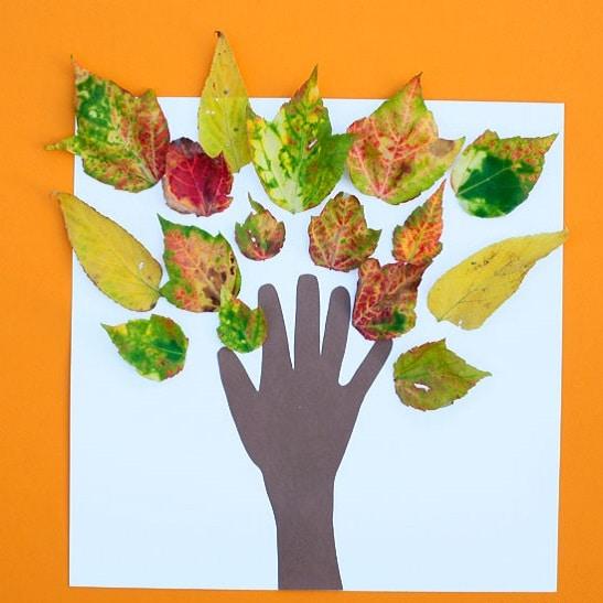 bricolage arbre automne feuilles
