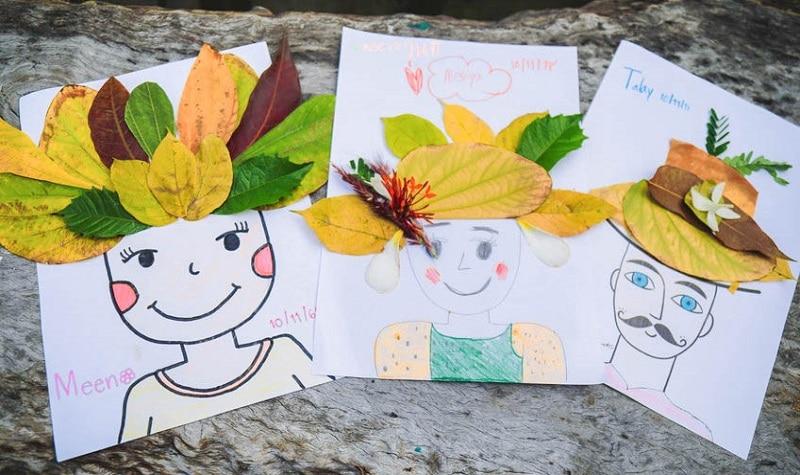 bricolage d'automne avec des feuilles d'arbre
