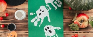 Bricolage Halloween avec les mains