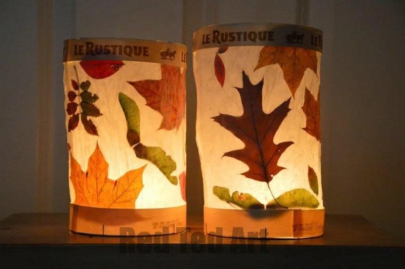 lanterne feuilles